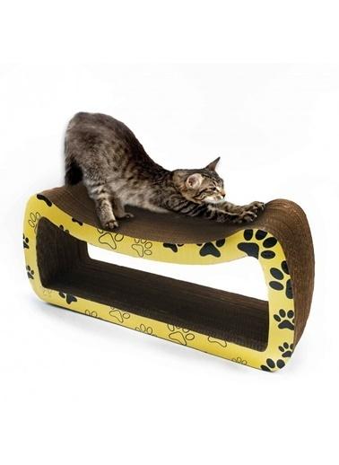Artikel 61X27X20Cm Ondüle Karton Kedi Tırmalama Tahtası Renkli